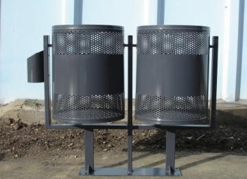 Модел КС 800Д - Двойно кошче за смет на стойка